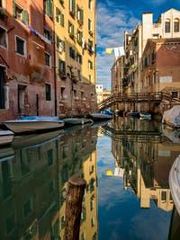 The Rio del Ghetto in Venice in Italy