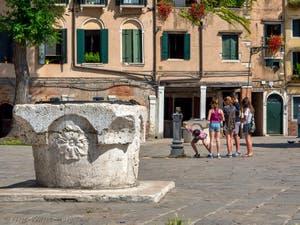 Wellhead Campo de Ghetto Nuovo in Venice in Italy
