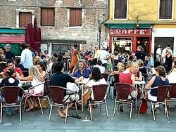 Café in Campo Santa Margharita Dorsoduro Venice Italy