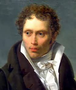 Portrait of young Arthur Schopenhauer