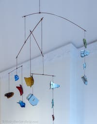 Alexander Calder,Mobile Glass and Porcelain, at the Peggy Guggenheim Collection in Venice