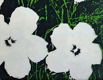 Andy Warhol,Flowers, at the Peggy Guggenheim Collection in Venice Italy
