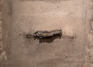 Antoni Tàpies,Rag and String, at the Peggy Guggenheim Collection in Venice Italy