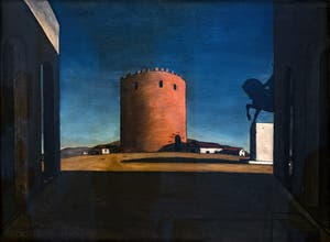 Giorgio de Chirico, The Red Tower, at the Peggy Guggenheim Collection in Venice
