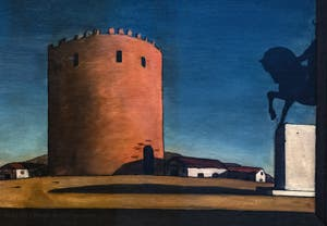 Giorgio de Chirico,The Red Tower, at the Peggy Guggenheim Collection in Venice