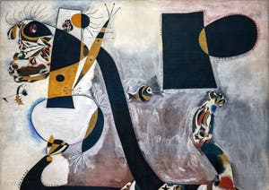 Joan Miró,Seated Woman II, at the Peggy Guggenheim Collection in Venice