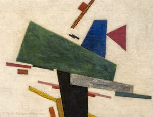 Kazimir Malevich,Untitled (1916), at the Peggy Guggenheim Collection in Venice