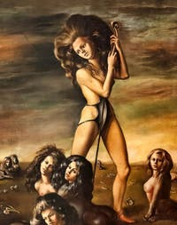 Leonor Fini,The Shepherdess of the Sphynx, at the Peggy Guggenheim Collection in Venice