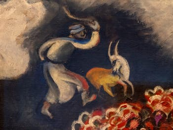 Marc Chagall,The Rain(La Pluie) at the Peggy Guggenheim Collection in Venice in Italy