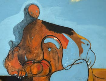 Max Ernst,The Kiss(Le Baiser) at the Peggy Guggenheim Collection in Venice