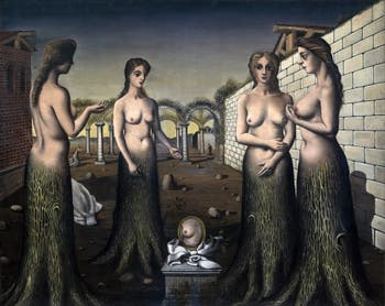 Paul Delvaux,The Break of Day(L'Aurore) at the Peggy Guggenheim Collection in Venice in Italy