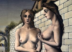 Paul Delvaux, The Break of Day (L'Aurore) at the Peggy Guggenheim Collection in Venice in Italy