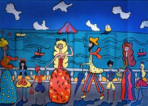 Pegeen Vail, At the Seaside, Peggy Guggenheim Collection in Venice Italy