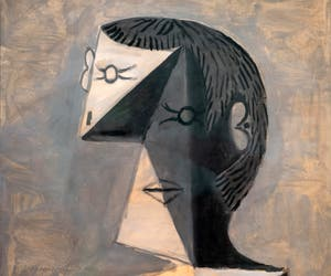 Pablo Picasso, Half-length Portrait of a Man in a Striped Jersey, Peggy Guggenheim Collection Venice