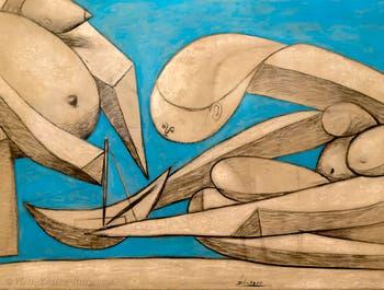 Pablo Picasso, Swimming on the Beach, (La Baignade à la Plage) at the Peggy Guggenheim Collection in Venice