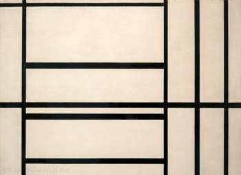 Piet Mondrian, Composition N°1 with Grey and Red, at Peggy Guggenheim Collection in Venice Italy
