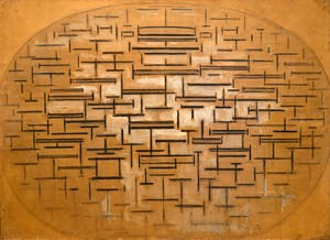 Piet Mondrian, Ocean 5, at Peggy Guggenheim Collection in Venice Italy