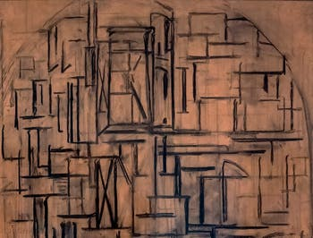 Piet Mondrian,Scaffold: Study for Tableau III, at Peggy Guggenheim Collection in Venice Italy