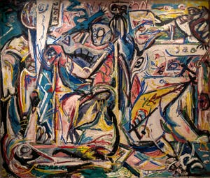 Jackson Pollock,Circumcision, at the Peggy Guggenheim Collection in Venice in Italy