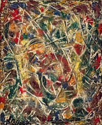 Jackson Pollock,Croaking Movement, at the Peggy Guggenheim Collection in Venice in Italy