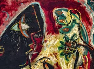 Jackson Pollock,The Moon Woman, at the Peggy Guggenheim Collection in Venice in Italy