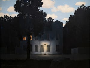 René Magritte,Empire of Light (L'Empire des lumières), at the Peggy Guggenheim Collection in Venice in Italy