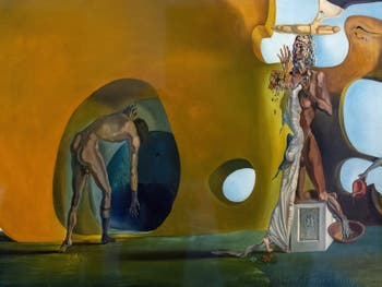 Salvador Dalí,Birth of Liquid Desires(La Naissance des Désirs Liquides) at the Peggy Guggenheim Collection in Venice in Italy