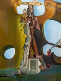 Salvador Dalí, Birth of Liquid Desires (La Naissance des Désirs Liquides) at the Peggy Guggenheim Collection in Venice in Italy
