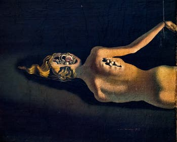 Salvador Dalí, Untitled 1931 (Woman sleeping in a landscape) at the Peggy Guggenheim Collection in Venice in Italy