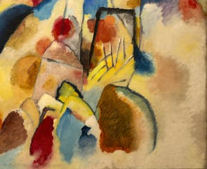 Vasily Kandinsky,Landscape with Red Spots N°2, at the Peggy Guggenheim Collection in Venice