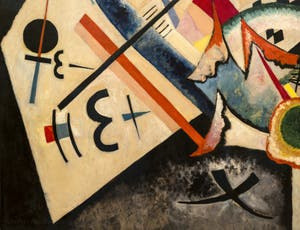 Vasily Kandinsky,White Cross, at the Peggy Guggenheim Collection in Venice