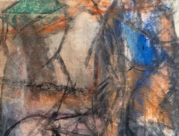 Willem de Kooning,Untitled 1958,at the Peggy Guggenheim Collection in Venice in Italy