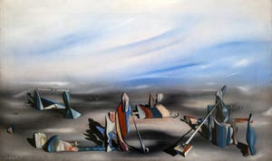 Yves Tanguy, In an Indeterminate Place (En Lieu oblique) at the Peggy Guggenheim Collection in Venice in Italy