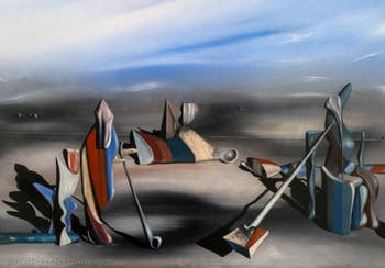 Yves Tanguy,In an Indeterminate Place(En Lieu oblique) at the Peggy Guggenheim Collection in Venice in Italy