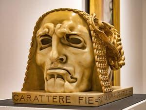 Adolfo Wildt,Proud Character and Gentle Spirit, at Ca' Pesaro International Modern Art Gallery in Venice Italy