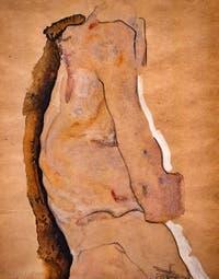 Egon Schiele, Feminine Nude Torso, at Ca' Pesaro International Modern Art Gallery in Venice Italy