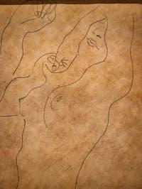 Egon Schiele,Nude, at Ca' Pesaro International Modern Art Gallery in Venice Italy