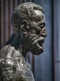 Émile-Antoine Bourdelle,Bust of Anatole France, at Ca' Pesaro International Modern Art Gallery in Venice Italy