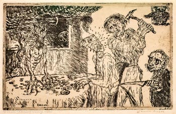 James Ensor,The Greed(L'Avarice) at Ca' Pesaro International Modern Art Gallery in Venice Italy