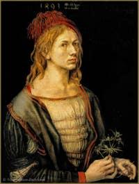 Albrecht Dürer Self portrait 1493.
