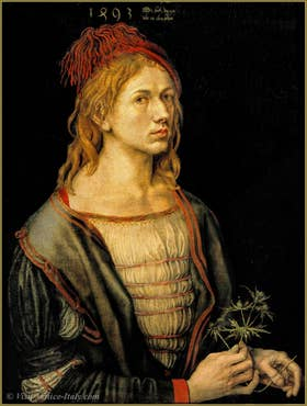 Albrecht Dürer Self portrait 1493.