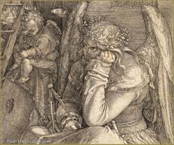 Albrecht Dürer - Melancholy 1514 detail.