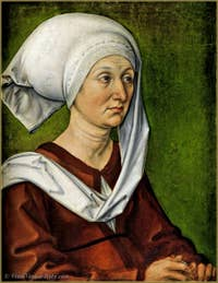Albrecht Dürer - Portrait of his mother, Barbara Dürer Holper 1490.