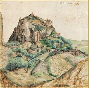 Albrecht Dürer View of the Arco Valley 1495.