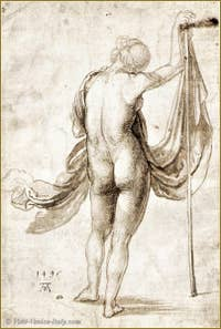 Albrecht Dürer - Nude woman 1495.