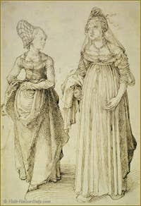 Albrecht Dürer : Nuremberg and Venice women.