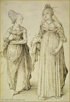 Albrecht Dürer : Nuremberg and Venice women.