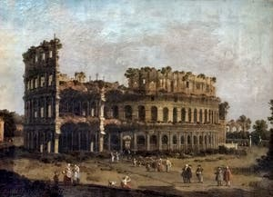 Canaletto, The Colosseum, Borghese Gallery in Rome in Italy