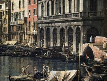 Canaletto, Venice Grand Canal and the Rialto Bridge view from South, Galleria Nazionale Barberini in Rome