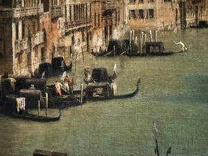 Canaletto, Venice Grand Canal from Balbi Palace to Rialto Bridge, Ca' Rezzonico Palace Museum in Venice
